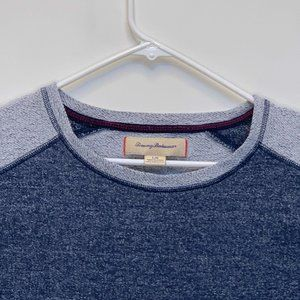 Tommy Bahama Mens Crew Neck Pullover Blue Large